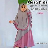 Alesa Kids gamis anak syari jilbab besar Ori Kenzo