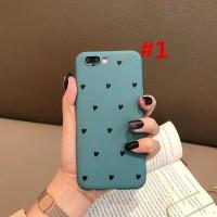 Soft Case TPU Full Body Motif Hati Warna Pink / Biru untuk oppo a3s