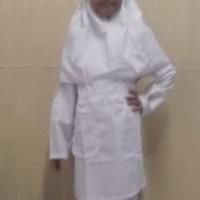 yang paling murah Baju Muslim Setelan Anak Perempuan Warna Putih 4, 5,