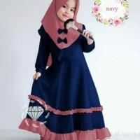 yang terbaru Baju Maxy muslim gamis anak perempuan cantik princess 4-