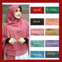 HOT SALE Kerudung Hijab Jilbab Instan Syari Khimar Pet Sifon PoloS