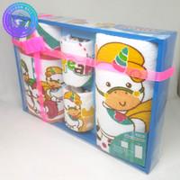 Handuk Set / Baby Gift Set / Paket Handuk Set Bayi Motif Sapi Pink