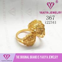 Cincin Lapis Emas Perhiasan imitasi Gold 18k Yaxiya Jewelry 367