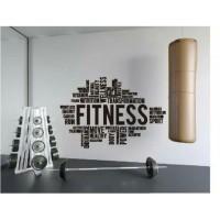 Stiker Oracal Tempat Olahraga Gym Tulisan Fitness