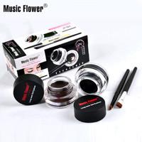 Music Flower 2in1 Eyeliner Warna Hitam + Coklat Anti Air Tahan Lama