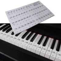 Piano Stickers - Stiker Piano Warna Hitam Transparan (52 key)