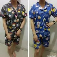 Rx Fashion Piyama pajamas PDK BONEKA bahan kartun jepang fit L 1R