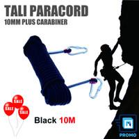Tali Paracord 10M Panjat Tebing Climbing Rope 10mm Plus Carabiner