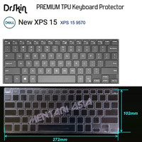 Keyboard Protector DELL New XPS 15-9570 - DrSkin PREMIUM TPU Clear