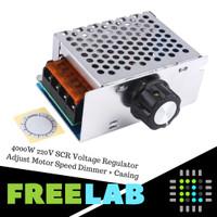 4000W 220V SCR Voltage Regulator Adjust Motor Speed Dimmer + Casing