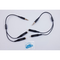 Splitter Connector Audio Philips Jack 3.5 mm 1 Male To 2 Female Earbud
