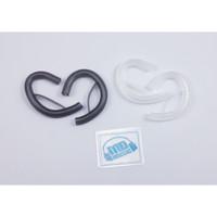Earhook silicone For Cable Flat/Kabel Gepeng/Kabel Pipih Sepasang