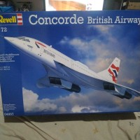 pesawat revell concorde british airways modelkit 1/72
