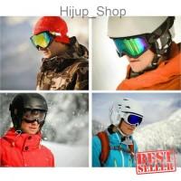 Kacamata Goggle Ski Tactical Sepeda Motor Pelindung Mata Lensa Wide UV