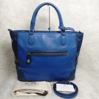 COACH 25057 POPPY COLORBLOCK LTHR - VIC BLUE