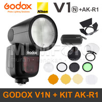 Godox V1N kit AK-R1 Nikon Round Head Flash V-1N V1-N V1 AKR1 AK R1