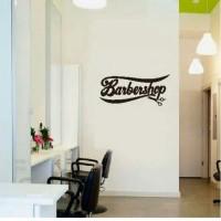 Stiker Oracal Salon Cukur Rambut Tulisan Barbershop