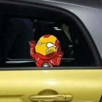 Stiker Mobil Iron Man Tony Stark Hit The Glass