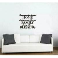 Stiker Oracal Rumah Cafe Restauran Tulisan Home Family