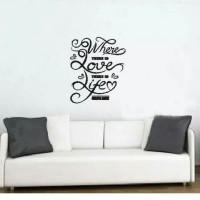 Stiker Oracal Rumah Tulisan Where Love