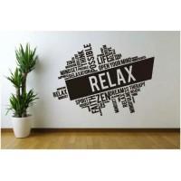 Stiker Oracal Kantor Cafe Restauran Tulisan Relax