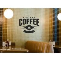 Stiker Oracal Cafe Restauran Warung Kopi Tulisan Vintage Coffee