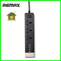 REMAX RU-S2 3 Power Sockets 4 USB Stop Kontak Colokan Listrik Sambung