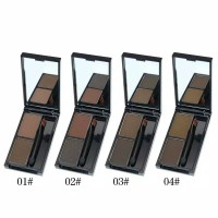 Novo original designing eyebrow powder two color with mirror