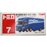 Tomica 7 Mitsubishi Super Great Truck TOMY Red Merah