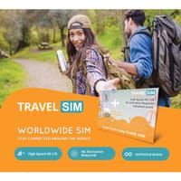 Kartu Internet Luar Negeri Travel SIM Worldwide Speed 4G LTE Unlimited