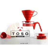HARIO V60 Coffee Server Red Pour Over Kit VCSD-02R Dripper Set