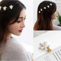 Jepit Rambut Korea Mutiara Flower Jepitan Bunga Korean Pearl Hairpin