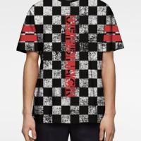 Pakaian Baju Kaos Pria Dewasa 3D Import Printing Offblack Chess Tshirt