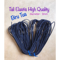 CR111 meteran BIRU TUA 3mm Tali Karet Elastis string benang craft