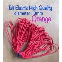 CR112 meteran ORANGE 3mm Tali Karet Elastis string benang craft