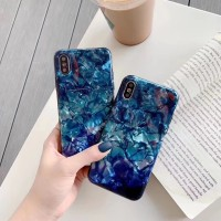 CASE I PHONE 6 6S 6+ 6S+ 7 7+ 8 8+ X XS XR XS MAX MARBLE BLUE