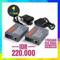 Media Converter FO 10/100 mbps 1 set A dan B single core 25km