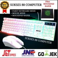 PAKET KEYBOARD GAMING + MOUSE GAMING USB MIXIE X90A /1 SET/KABEL/WIRED