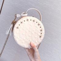 tas wanita slempang selempang putih import sling bag murah pergi 83103