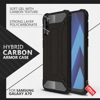 Armor Case Samsung A70 Soft Softcase Hard Hardcase Casing Cover Carbon