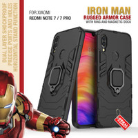 Armor Case Xiaomi Redmi Note 7 / Pro Soft Softcase Hard Ring Casing
