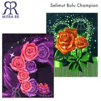 Selimut Bulu Champion Super Soft Blanket 180x210 cm Motif Elegant