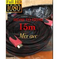 TeRmUrAh KABEL HDMI 15M SERAT JARING HDMI TO HDMI 15 m 1080P V1.4 3D