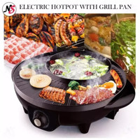 Electric Grill Shabu Multi Pan panggang barbekyu BBQ Suki Hot POT Bowl