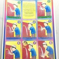 Harga jual mainan poster edukasi cara wudlu termurah premium import | antitipu.com
