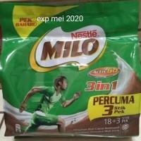 milo 3 in 1 sachet (18 + 3 stick)malaysia
