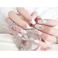 YT-002 Kuku Palsu Fake Nails Instant Nail Art Wedding Bridal Pesta