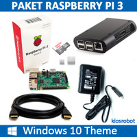 Paket Mini PC Raspberry Pi 3 dengan Windows 10 Theme