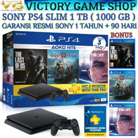 SONY PS4 SLIM 500GB/ PS 4/ PLAYSTATION 4 + STIK ORI WIRELESS