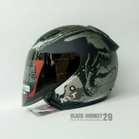 Helm Halfface KYT DJ MARU VENOM - Paket Ganteng